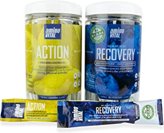 amino VITAL Action (Lemon) and Rapid Recovery Bundle- Vegan BCAAs Amino Acid Mix | Hydration and Endurance | Repair and Recovery