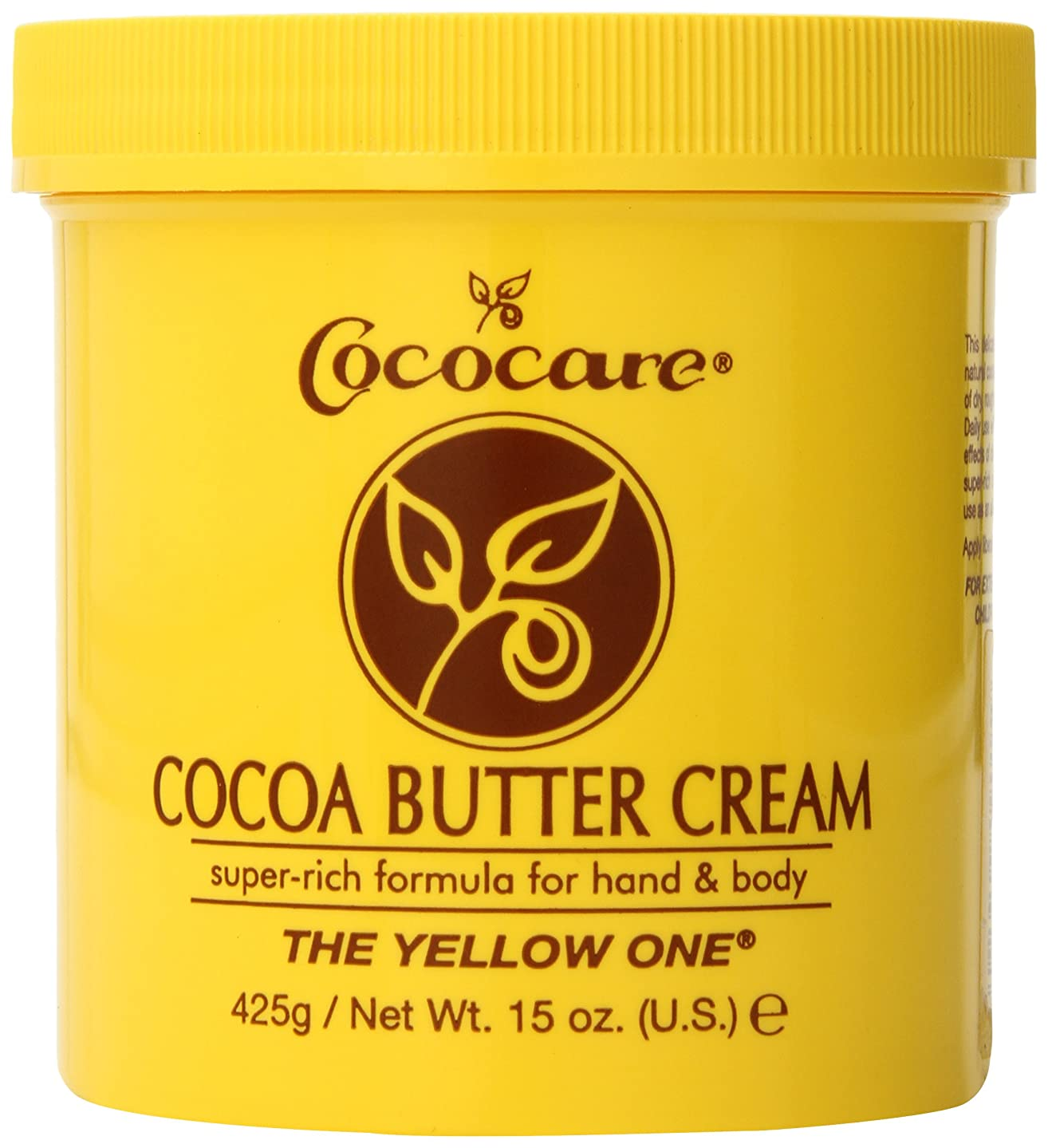 パリティ肌防止Cococare, The Yellow One, Cocoa Butter Cream, 15 oz (425 g)