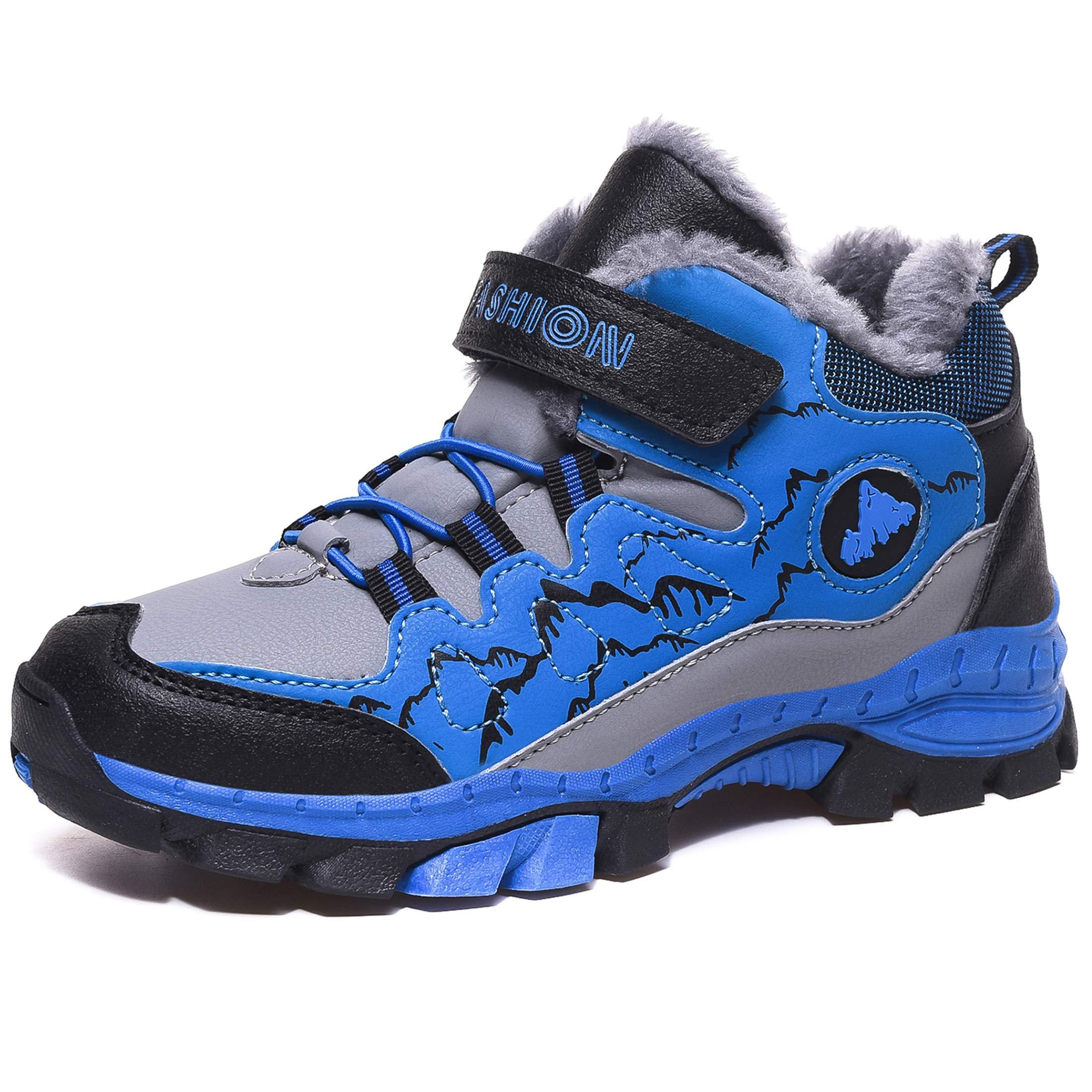 Chaussure Hiver Garçons Anti-dérapant Botte de Neige en Coton pour Enfants Escalade Chaussures Randonnée Bottes