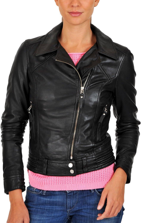 New Women Motorcycle Lambskin Leather Jacket Coat Size XS S M L XL LTN653