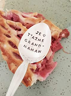 Je T'aime Grandmaman - I love You Grandma - Hand Stamped Spoon - Gift For Grandmother - Engraved Spoon