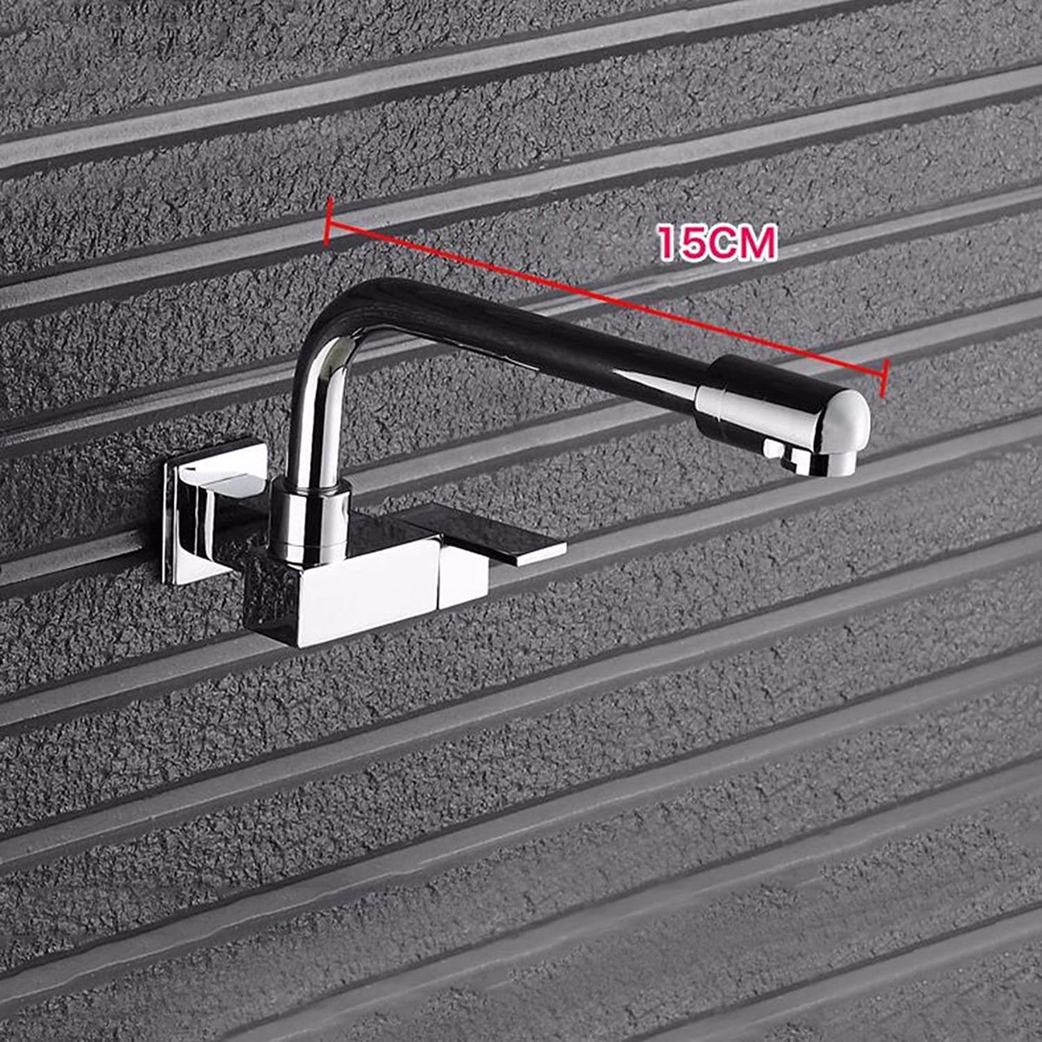 Kitchen Faucet Lengthen Mop Pool Faucet Into Wall Type Single Cold Balcony, Laundry Pool, Mop Pool, Kitchen Washing Basin, Water Faucet,C2