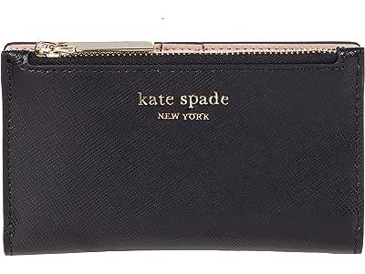 Kate Spade New York Spencer Small Slim Bifold Wallet (Black) Wallet