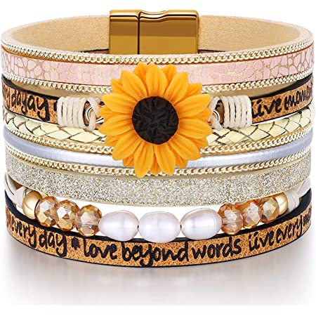 DESIMTION Graduation Gifts for Her 2020-2021,Sunflower Animal Bracelets Perfect College High School Graduation Friendship Present for Girls Boys