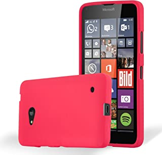 Cadorabo Case Works with Nokia Lumia 640 in Frost RED – Shockproof and Scratch Resistant TPU Silicone Cover – Ultra Slim Protective Gel Shell Bumper Back Skin