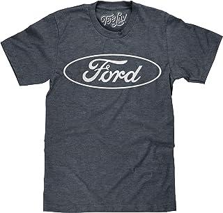 Tee Luv Ford T-Shirt - Licensed Ford Oval Logo Shirt (Indigo-Black)