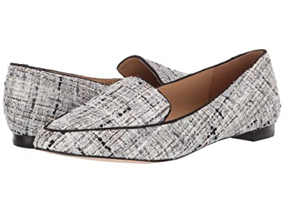 Nine West Abay Flat (Black/White) Women