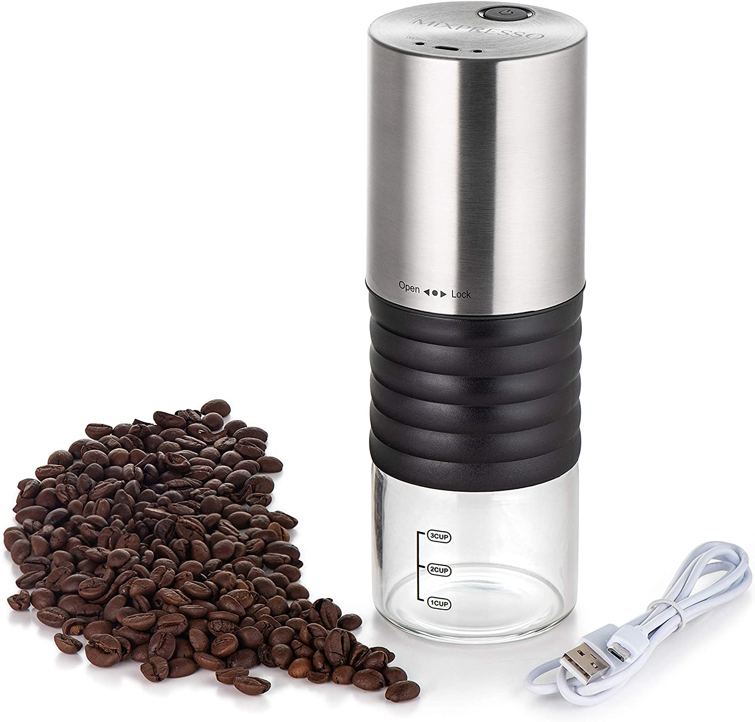 Mixpresso Electric Coffee Grinder With USB And On Easy Max All items in the store 66% OFF Off