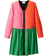 Stella McCartney Kids - Long Sleeve Color Block Dress with Zipper (Toddler/Little Kids/Big Kids)