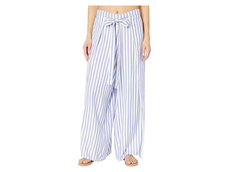 Echo Design Striped Breeze Pants (Iris) Women's Swimwear, Multi