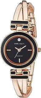 Anne Klein AK2622BKRG Reloj Análogo para Mujer, color Negro/Rosa
