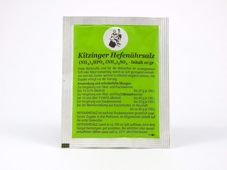 Arauner - Nutriente de levadura, 10 g, nutriente de Vino, para elaboración de Vino, Sidra y Cerveza
