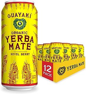 Guayaki Yerba Mate | Organic Alternative to Herbal Tea, Coffee and Energy Drink | Revel Berry | 150 mg of Caffeine | 15.5 ...