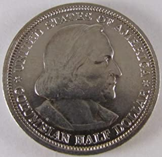 1893 Columbian Exposition Commemorative Half Dollar Extremely Fine Details