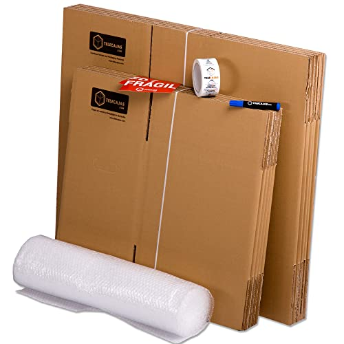 Pack Mudanza (Cajas de cartón, plástico burbujas, precinto, etc) con el
