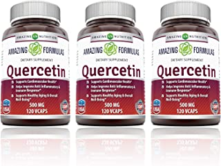 Amazing Formulas - Quercetin 500 Mg 120 Vcaps - Supports Cardiovascular Health - Helps Improve Anti-inflammatory & Immune ...