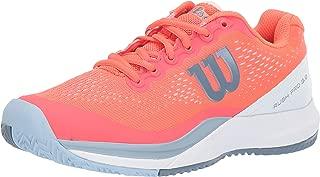 Wilson RUSH PRO 3.0 Tennis Shoes Women,  Fiery Coral/White/Cashmere Blue, 11