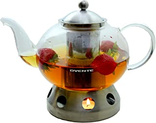 Ovente FGD51T Glass Teapot, 51 oz, Clear