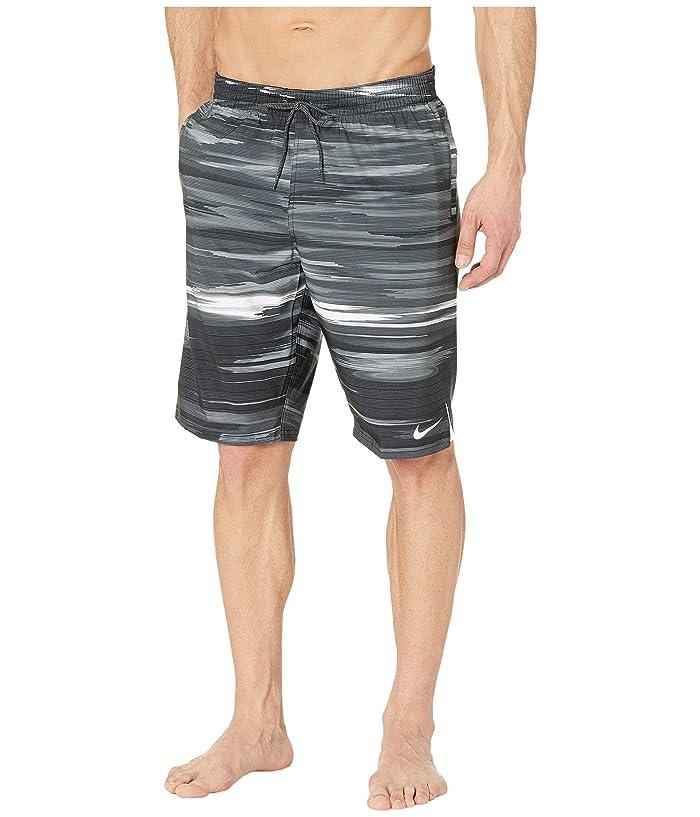 Nike  11 Sky Stripe Vital Volley Shorts (Black) Mens Swimwear