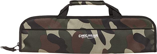 Ergo Chef Chef's Gear 5 Pocket Padded Knife Roll Bag, Bifold, Camouflage