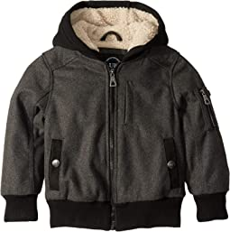 Bert Wool Blend Bomber Jacket Sherpa Lined (Little Kids/Big Kids)