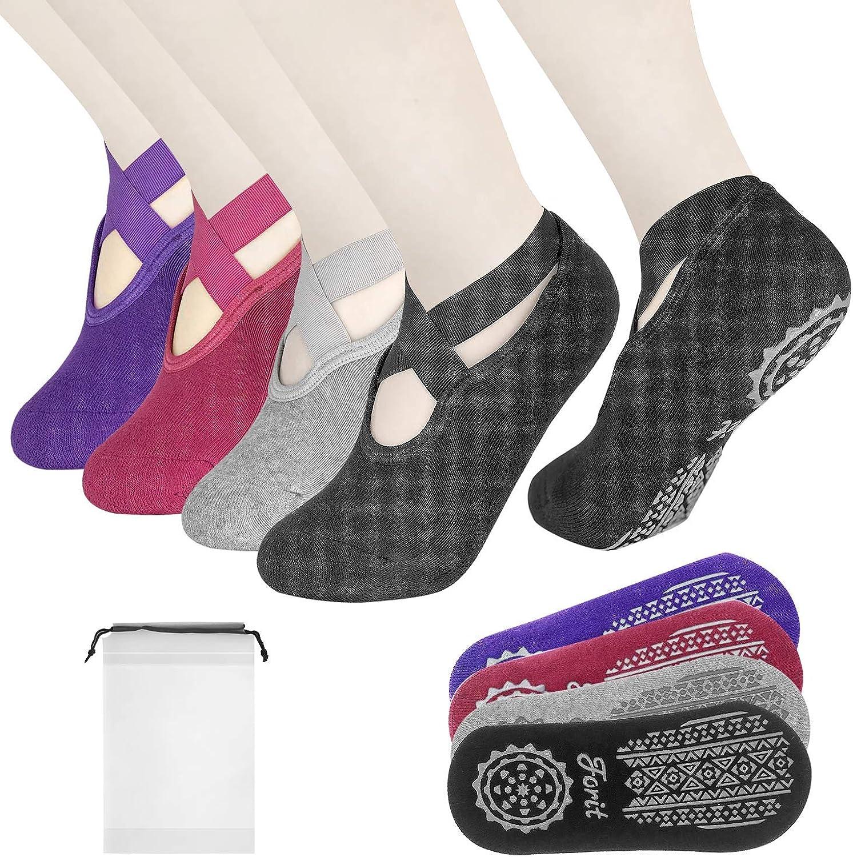 FORIT Yoga Socks for Women Grips Non-Slip Max 82% OFF Straps Ideal Ranking TOP14