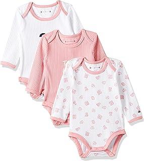 Tommy Hilfiger Girls 3 Pack Onesie set Bodysuit