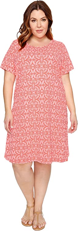 Extra Fresh by Fresh Produce Plus Size Island Batik Sadie Dress