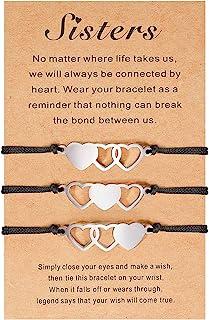 Cheerslife Sister Matching Bracelet Friendship BFF Bestie Heart Charm Wish Bracciali Set per Le Migliori Amiche Sorelle