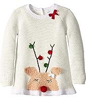 Reindeer Ruffle Christmas Sweater (Infant/Toddler)