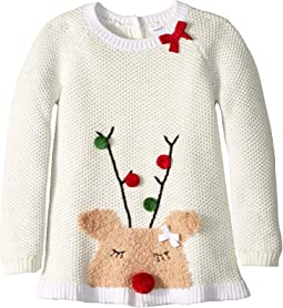 Reindeer Ruffle Christmas Sweater (Infant/Toddler)