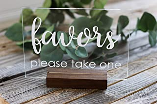 Favors Acrylic Sign (Wood Stand Included) 5x7
