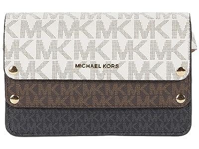 MICHAEL Michael Kors Tri-Scale Signature Belt Bag (Vanilla/Chocolate/Black Logo) Women