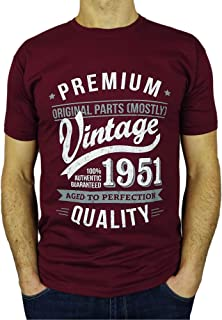 1951 Vintage Year - Aged to Perfection - 70th Birthday Gift/Present Mens T-Shirt