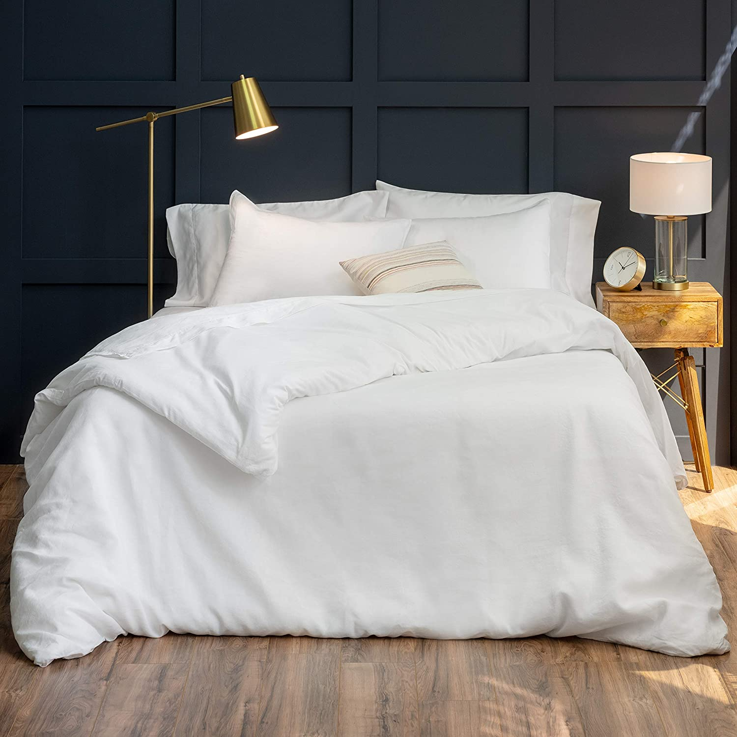 Welhome Premium Al sold out. Relaxed Linen Cotton Duvet Set - Full Outlet ☆ Free Shipping Cover Quee