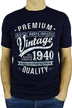 Aged To Perfection My Generation Gifts 1940 Vintage Year Regalo di Compleanno per 80 Anni Uomo Grembiuli Nero
