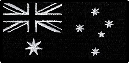 Australia Black Flag Embroidered Patch Australian Iron-On National Emblem