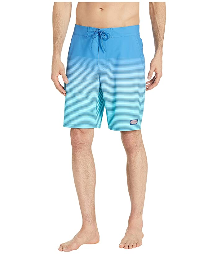 Vineyard Vines Long Beach Striped Boardshorts (Hull Blue) Men