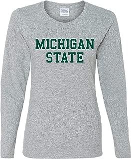 NCAA Basic Block, Team Color Womens Long Sleeve T Shirt, College, University