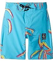 Volcom Kids - Tropic Elastic Boardshorts (Little Kids/Big Kids)