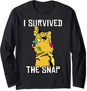 Marvel Thanos Gauntlet I Survived The Snap Long Sleeve Tee