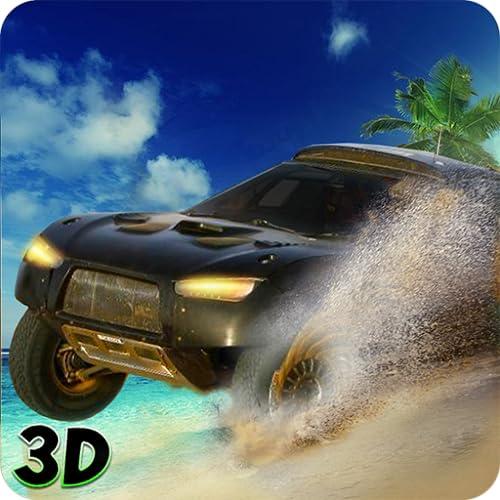 Unidad truco coche Miami Beach 3D