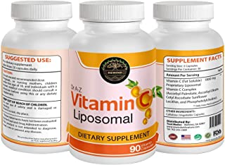 Dr A-Z Liposomal Vitamin C Immune Defense, Support - 1800mg Supplement - Ascorbic Acid Capsules - High Absorption VIT C Pi...