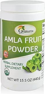 Organic Amla Powder 15.5 Ounce - USDA Organic, Batch Tested, Rich in ORAC Value