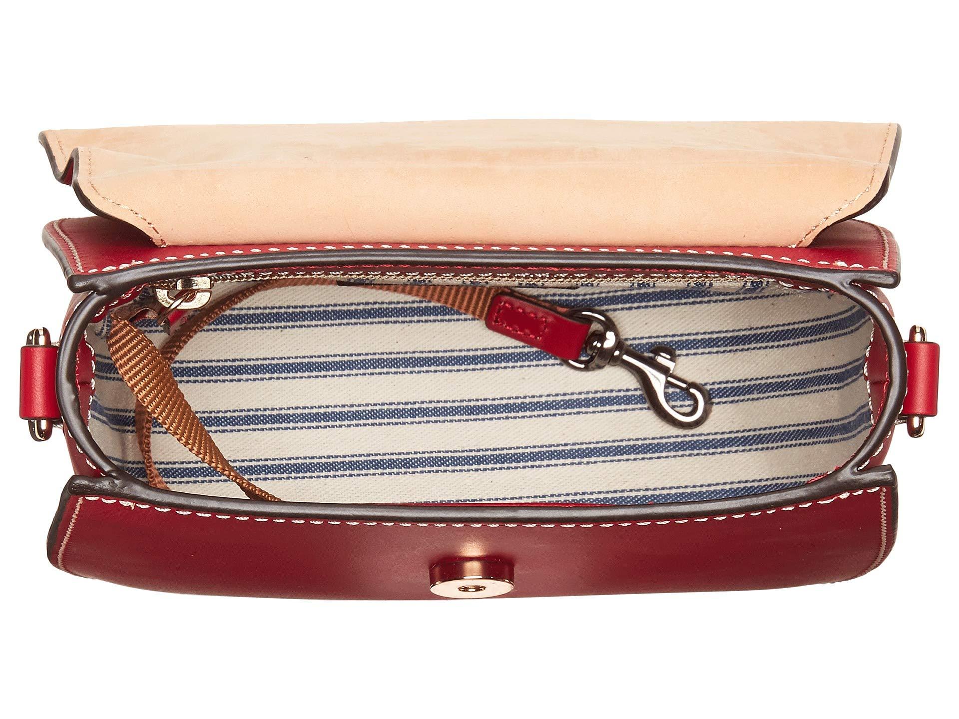 Dooney Crossbody red Beacon Trim amp; Red Saddle Bourke vwqvUrF