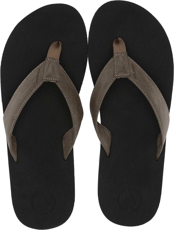 Volcom Men 39;s Fathom EVA Synthetic Leather Flip Flip Flop Sandal  Outlet-Verkauf