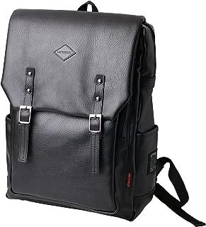 Backpack School College Bags Laptop Casual Briefcase (Black)