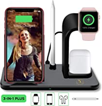 Advance Lifestyle Wireless Charging Dock, Stand, and Station 3-in-1. Fast Charger. Best for Apple iWatch, iPhone, Samsung Galaxy 4/3/2/1, XS, Plus, Note 7,8,9.