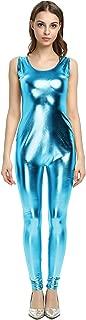Women's Jumpsuit Shiny Cat Suit Tank Bodysuit