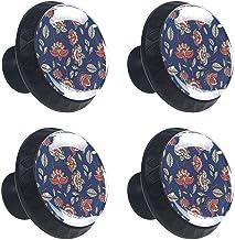 4 stks Kabinet Knoppen Lade Dressoir Handvatten Bloemen-Patroon voor Kamer, Keuken, Kantoor en Badkamer